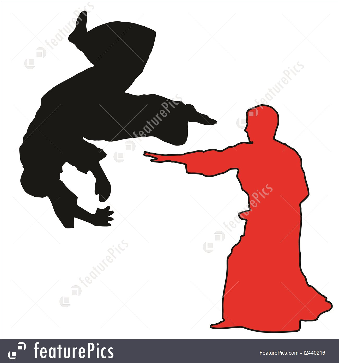 MARTIAL ARTS - AIKIDO u2014 Stock Vector #2759597