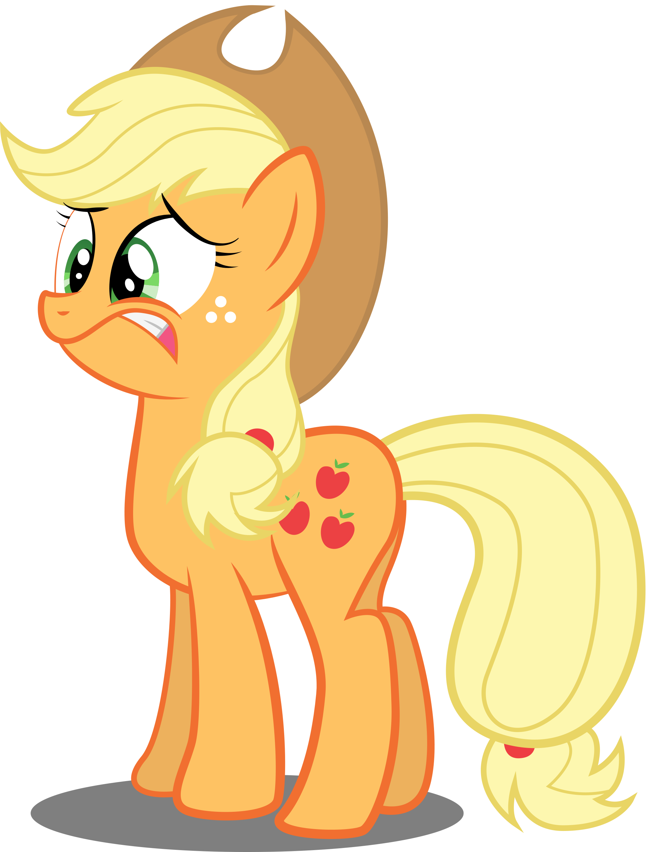 Applejack is Frightened by SpellboundCanvas