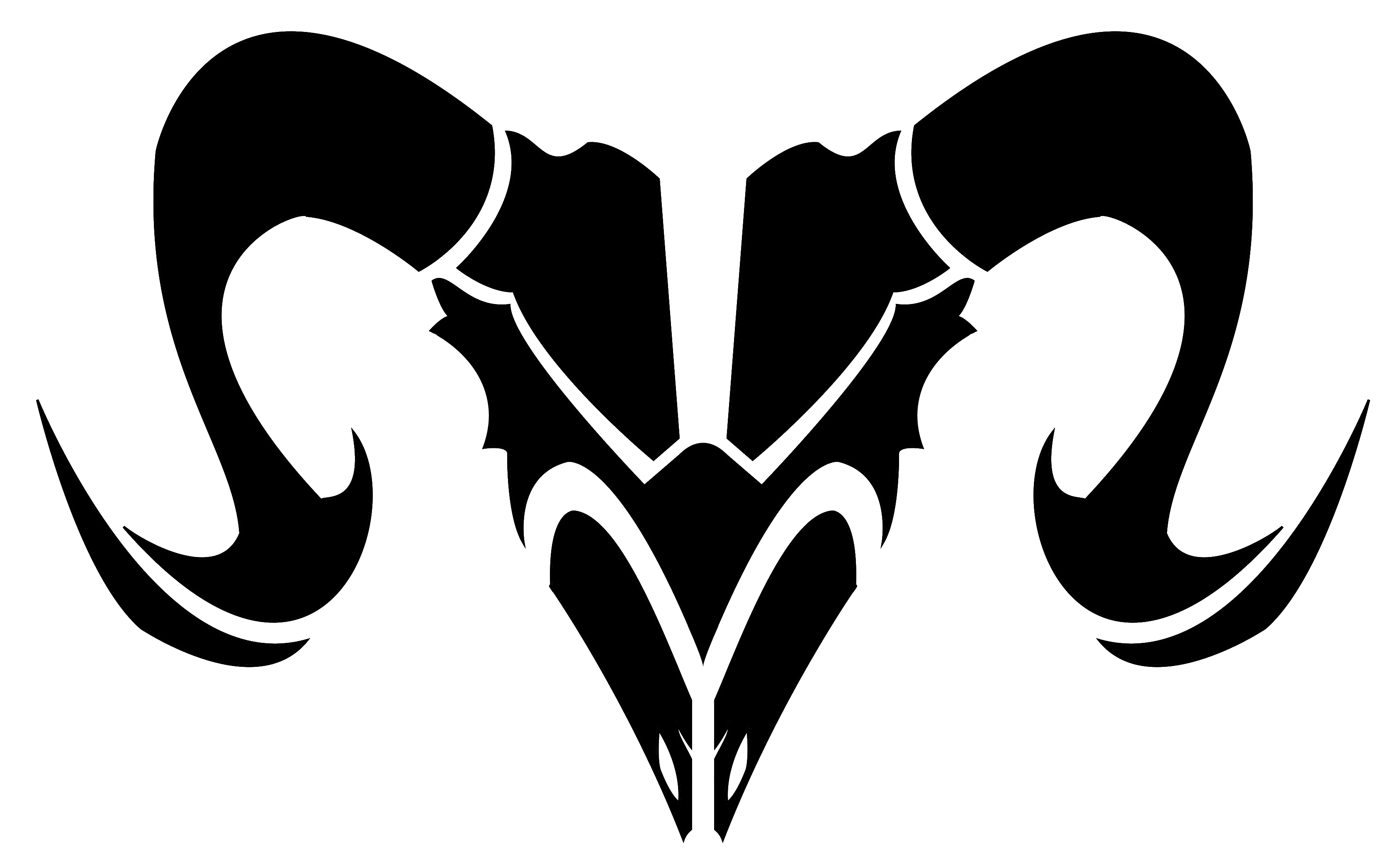Zodiac Signs Aries Black and White.
