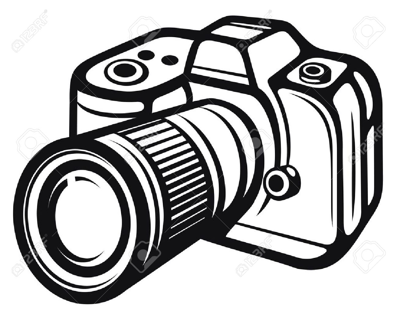 Compact digital camera digital photo camera Stock Vector - 14836243
