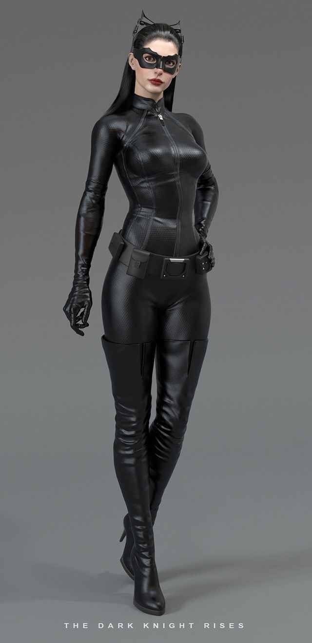 Anne Hathaway pkays Catwoman in The Dark Knight Rises