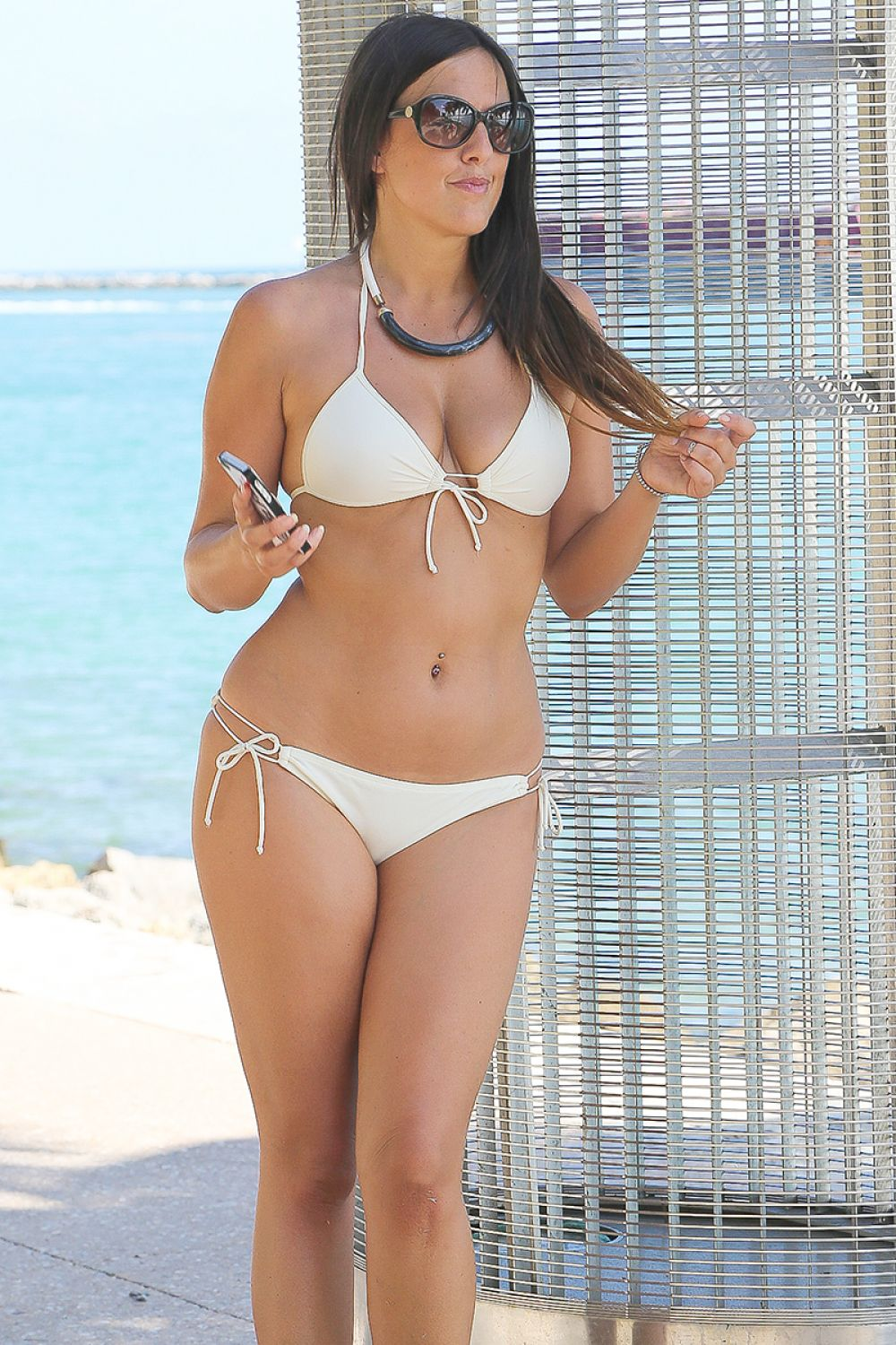 CLAUDIA ROMANI in Bikini in Miami Beach