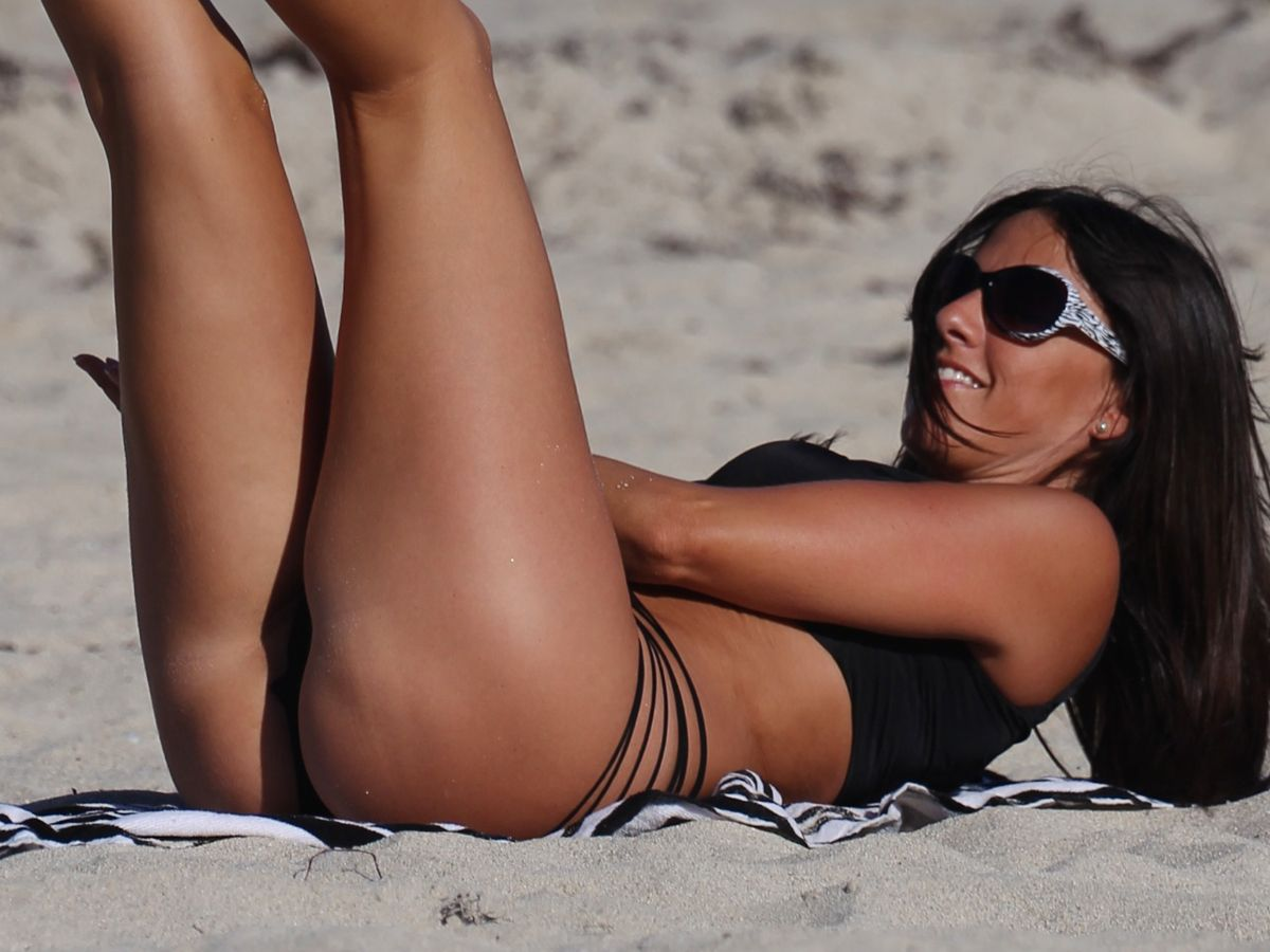 CLAUDIA ROMANI in Swimsuit at a Beach in Miami