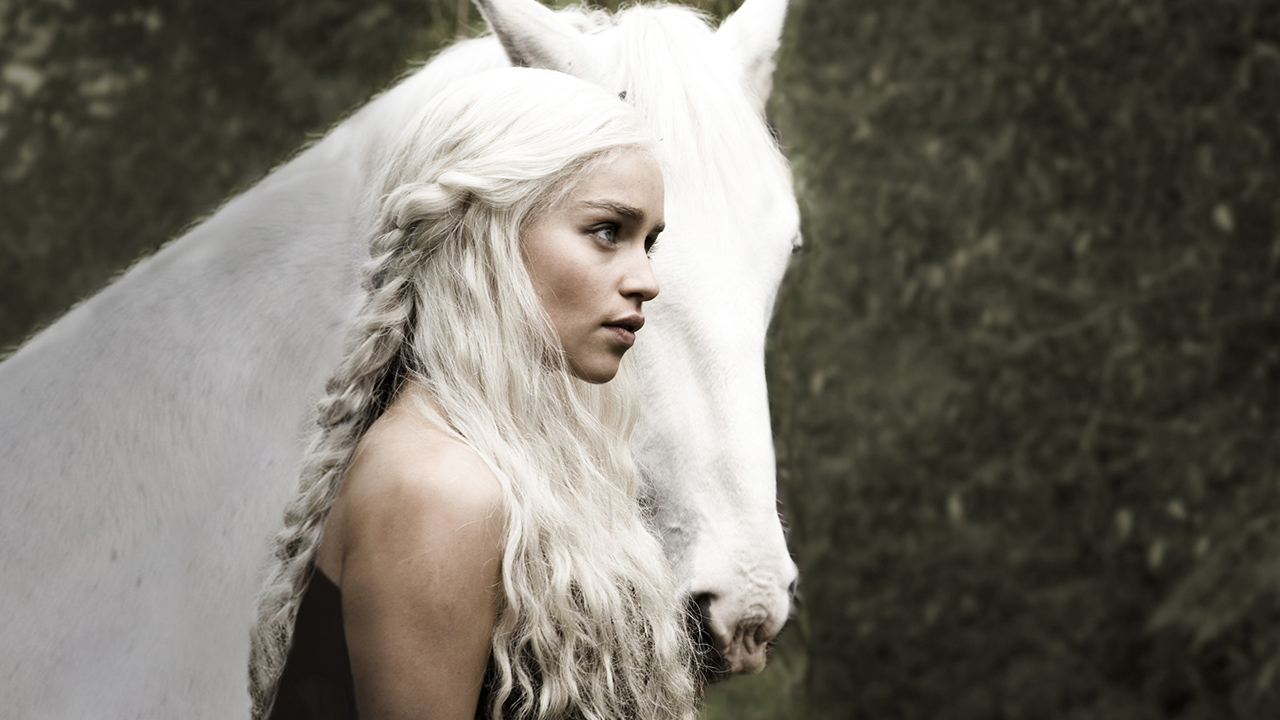 Daenerys with white stalion poster from Game of thrones season 1