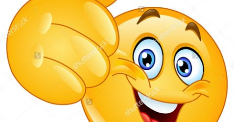 Emoticon Showing Thumb Up Stock Vector Illustration 119471821 : Shutterstock