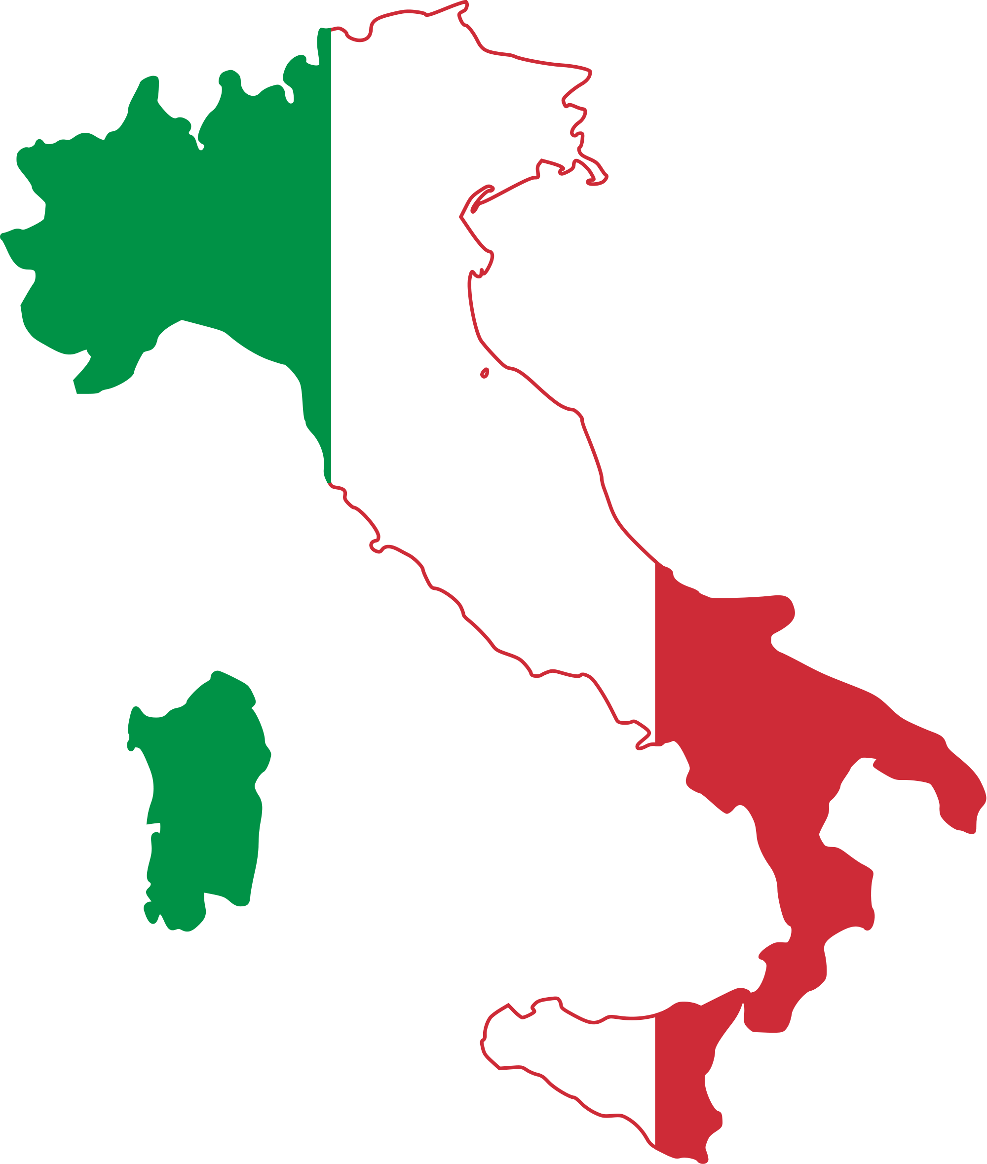 Italy looking like the flag.svg