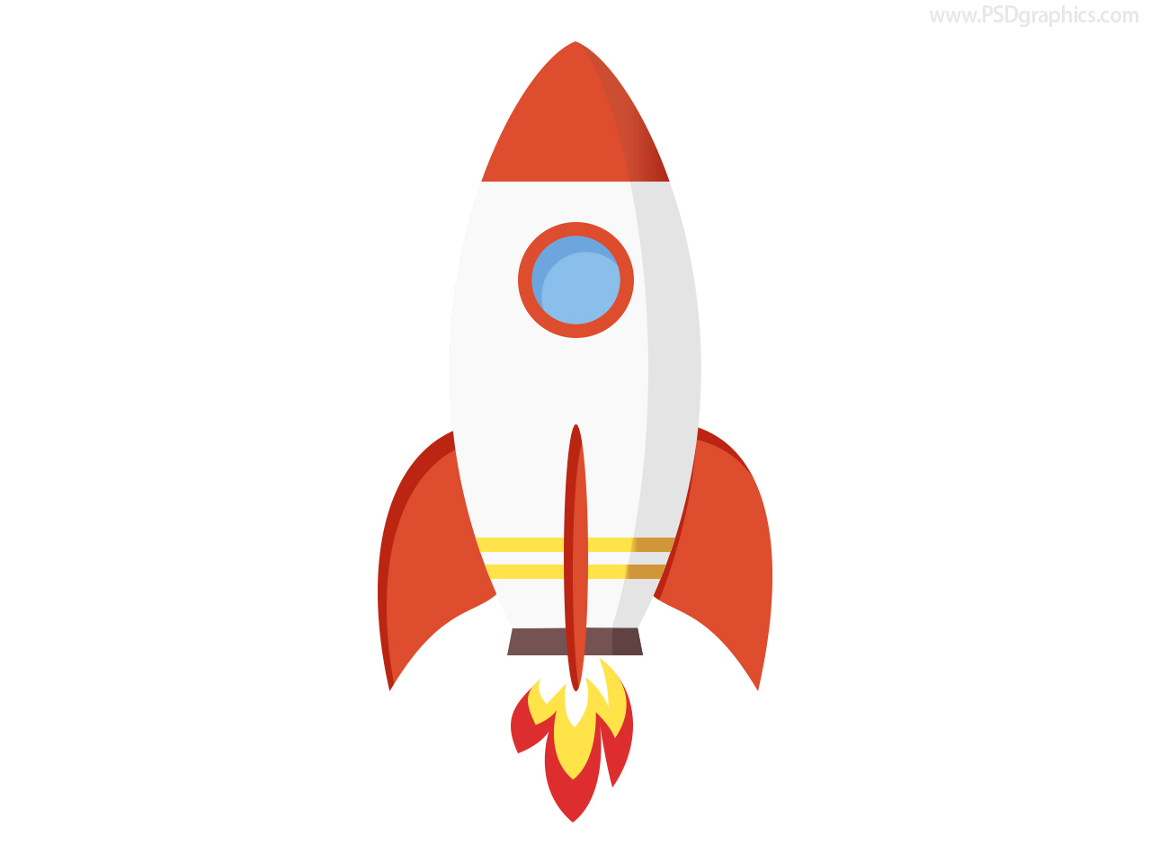 Full size JPG preview: Rocket icon