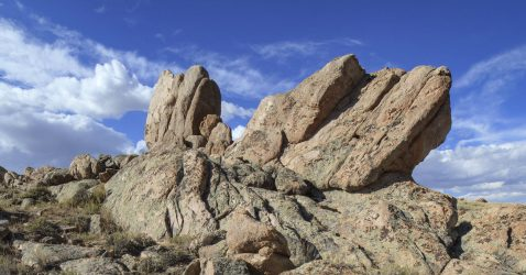 A central Wyoming rock formation