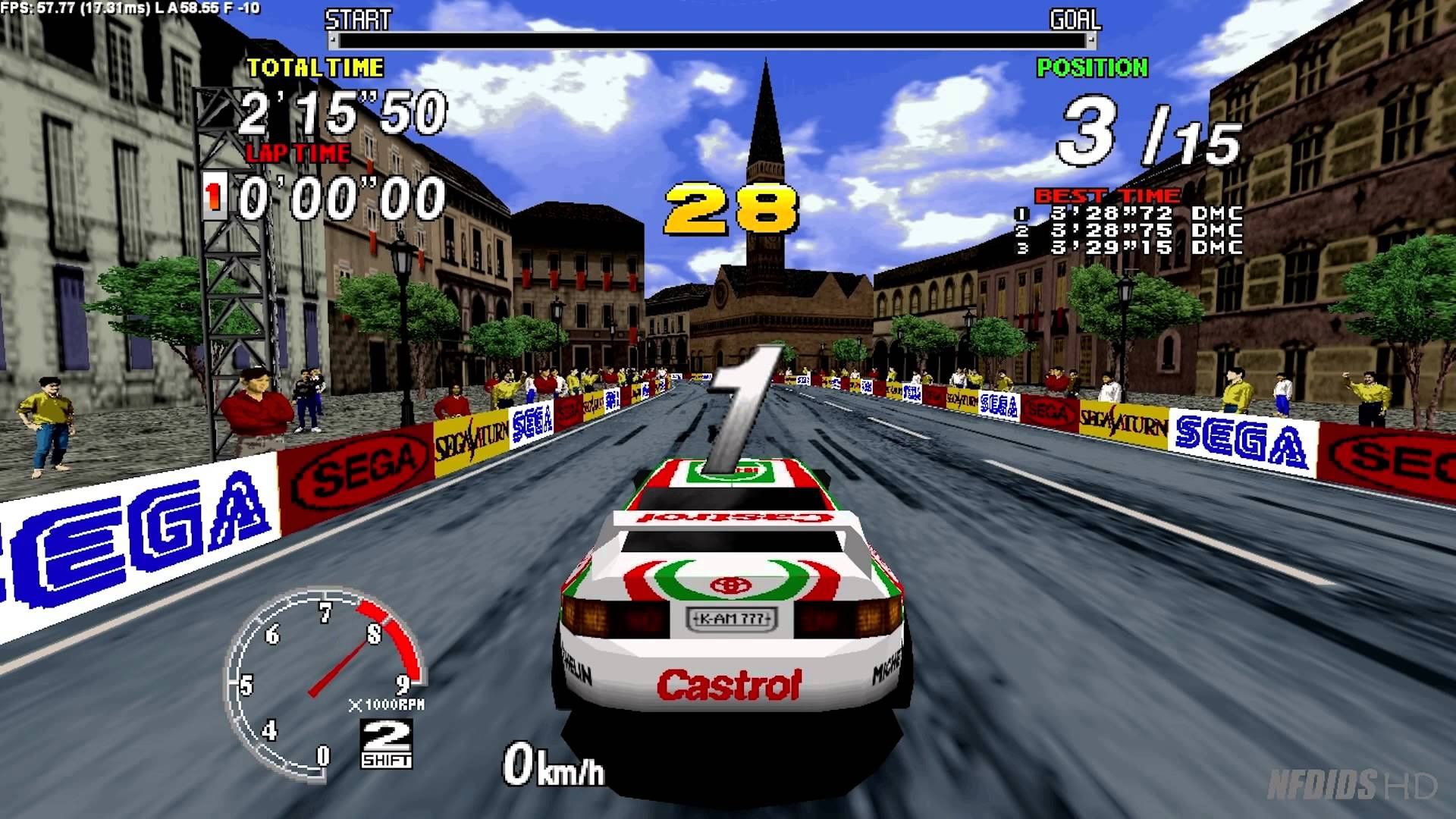 Sega Rally Championship 1995 Arcade : Sega Model 2 Emulator 1.0 (Logitech G25 manual) - YouTube
