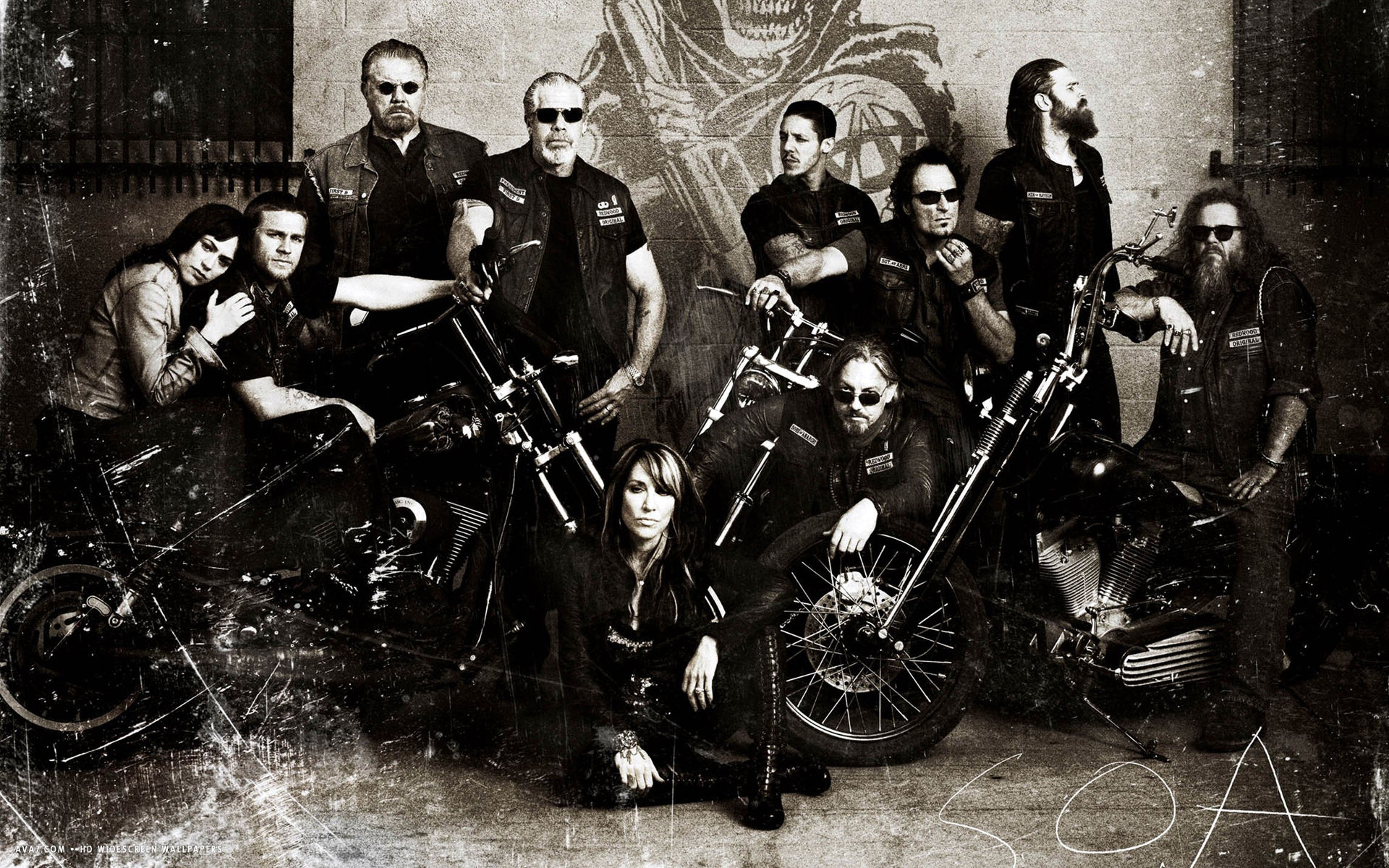how to draw the sons of anarchy