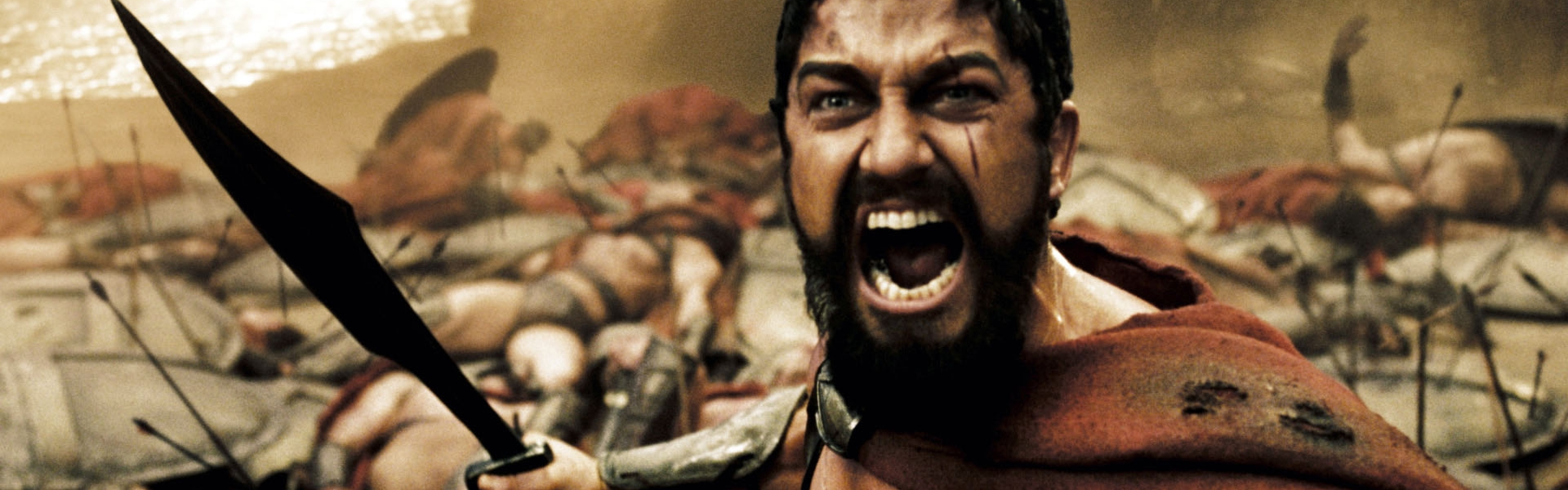 3840x1200 Wallpaper this is sparta