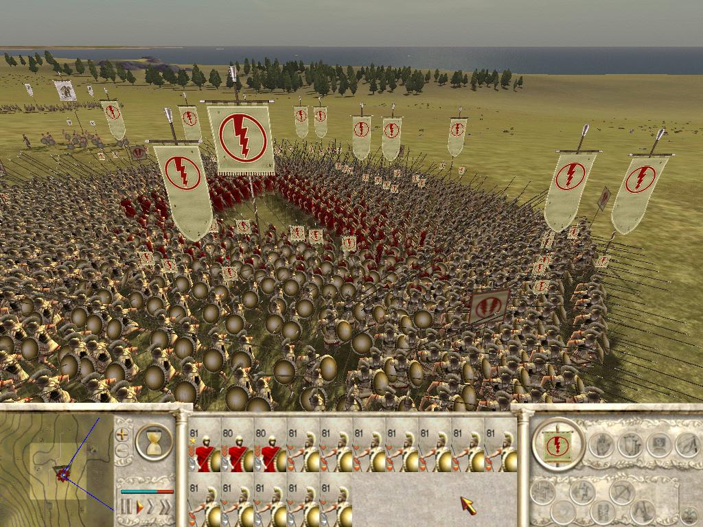 Battles in Rome: Total War can feature thousands of individual soldiers