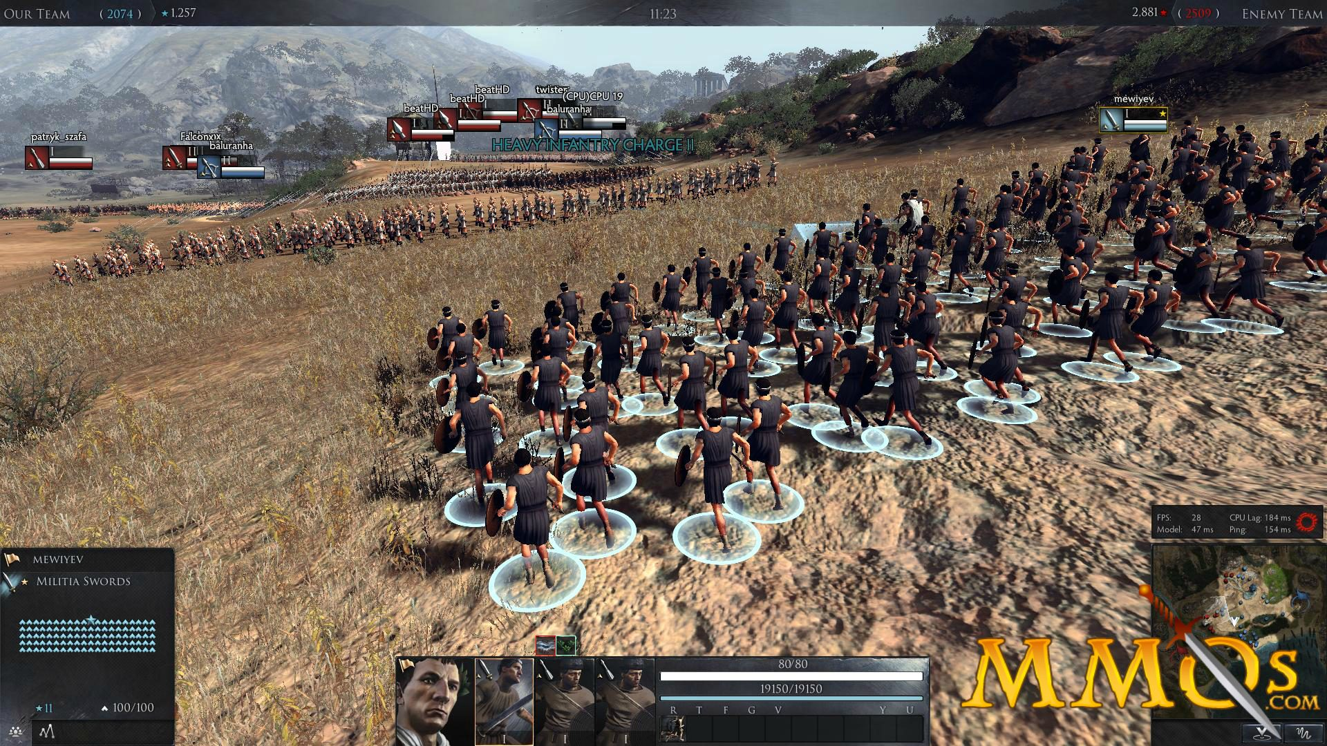 total war arena charge