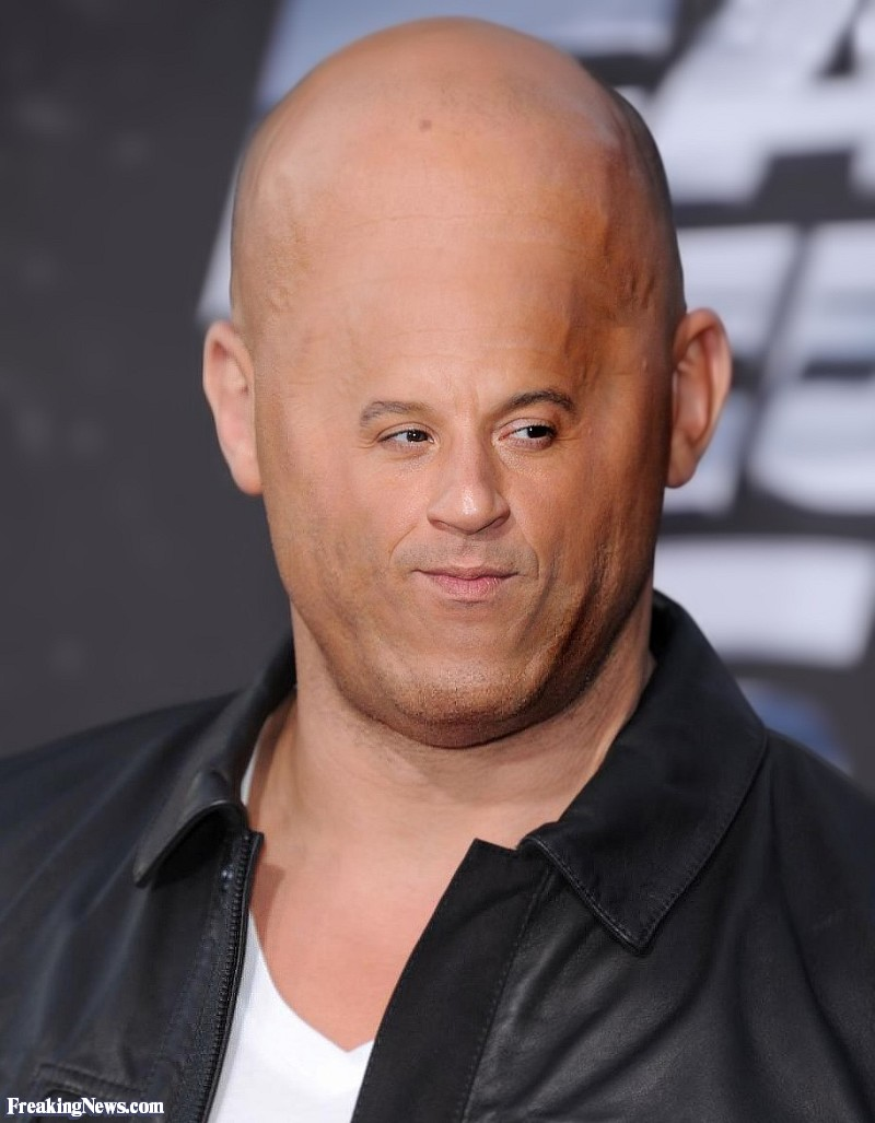 Vin Diesel with a Small Face