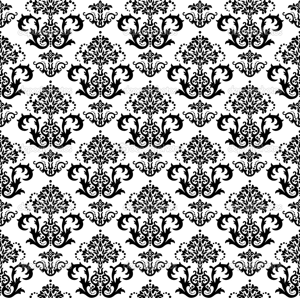 Black And White Floral Wallpaper
