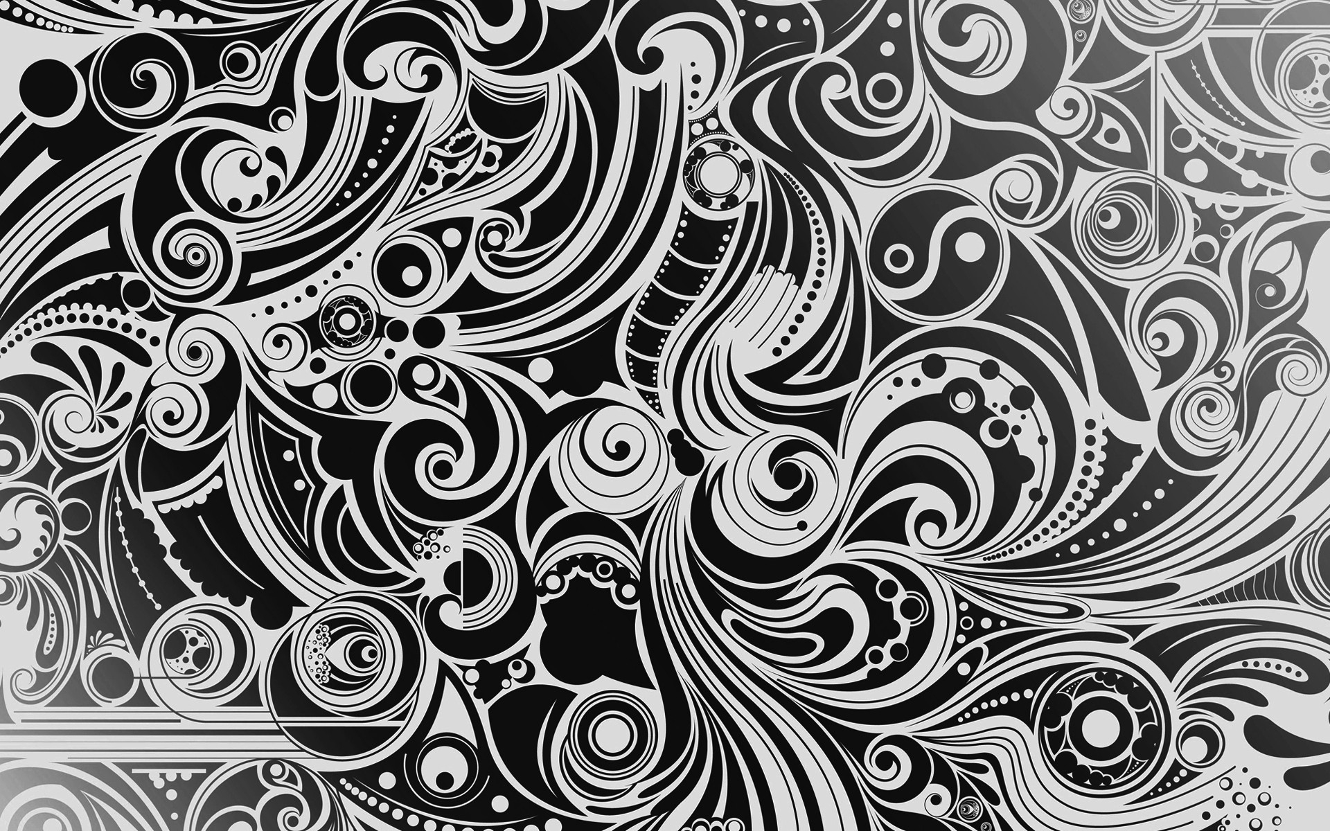 Black And White Patterned Wallpaper