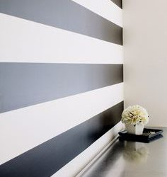 Black And White Stripe Removable Wallpaper