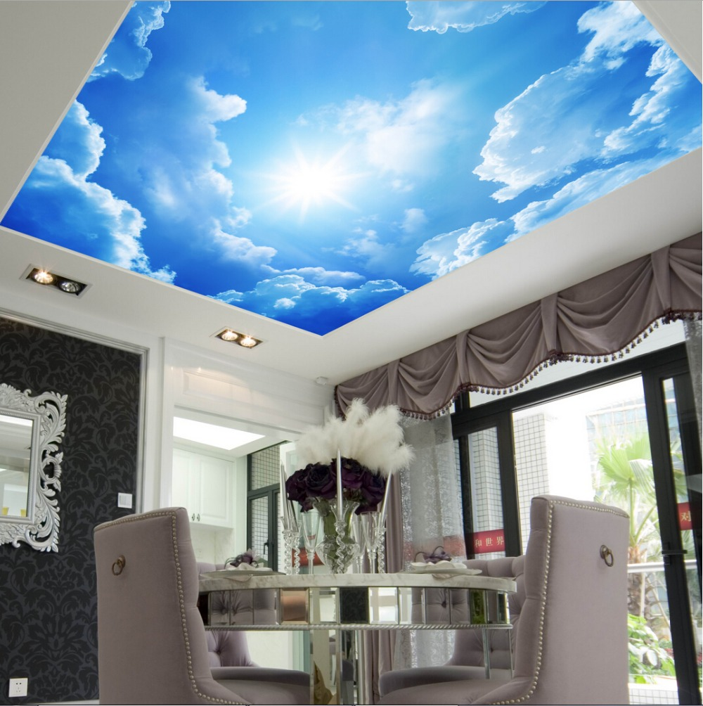 Download ceiling murals wallpaper gallery for Ceiling mural wallpaper