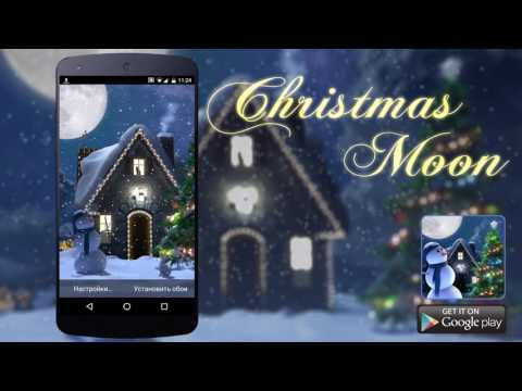 Christmas Moon Live Wallpaper