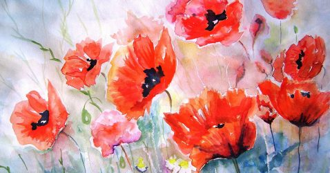 Flowers Painting Wallpaper
