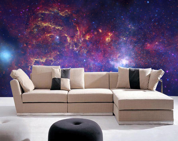 Galaxy Bedroom Wallpaper