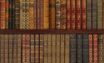 Library Book Wallpaper Mural