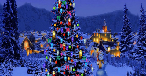 Live Christmas Tree Wallpaper