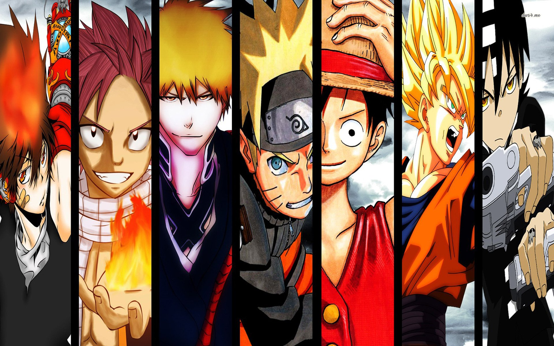 Naruto And One Piece Wallpaper