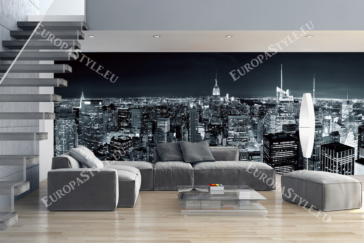 new york wallpaper mural with poster mural xxl new york. Black Bedroom Furniture Sets. Home Design Ideas