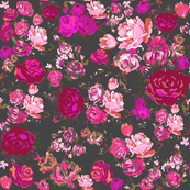 Pink And Grey Flower Wallpaper