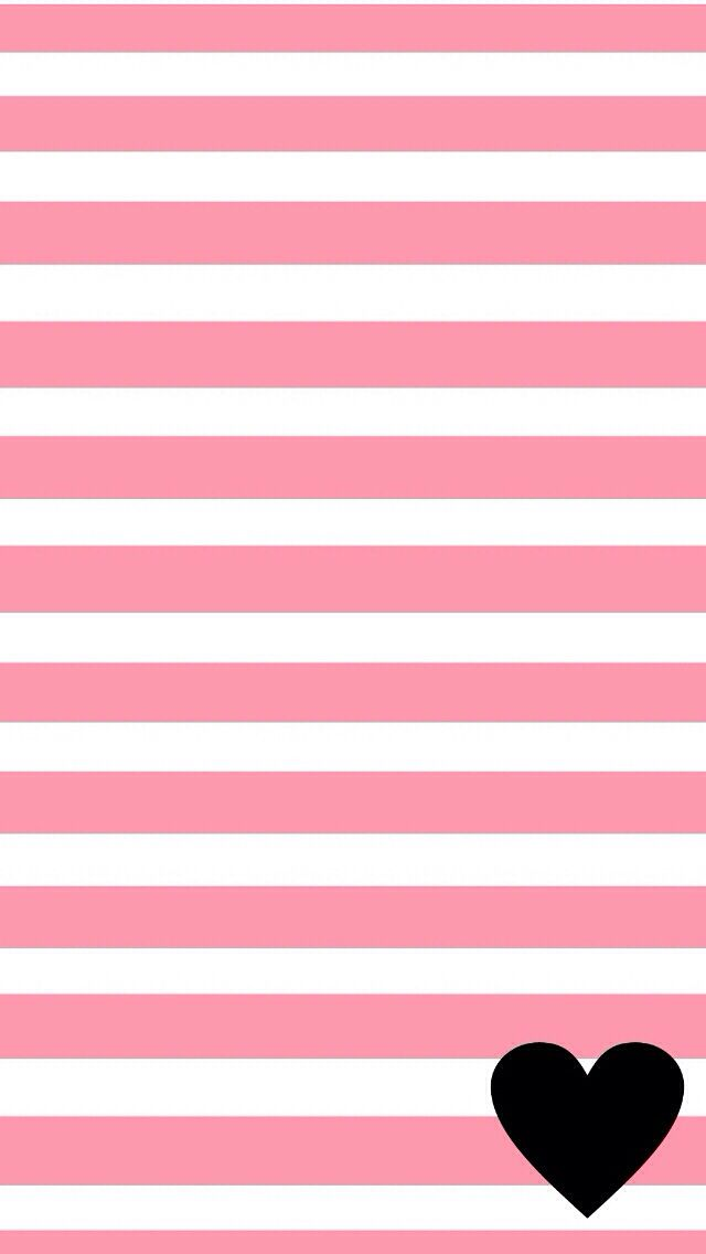 Pink And White Striped Wallpaper