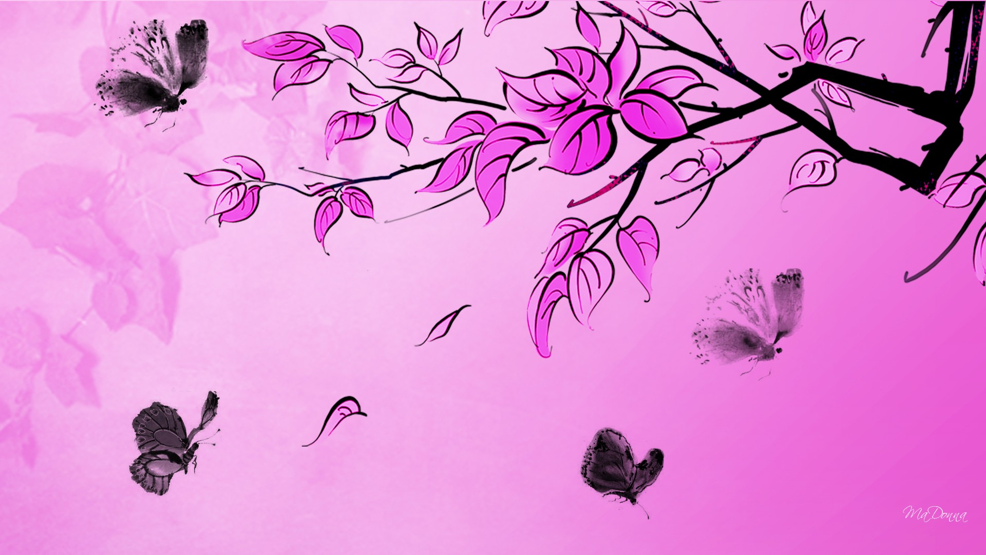 Pink Butterfly Wallpapers