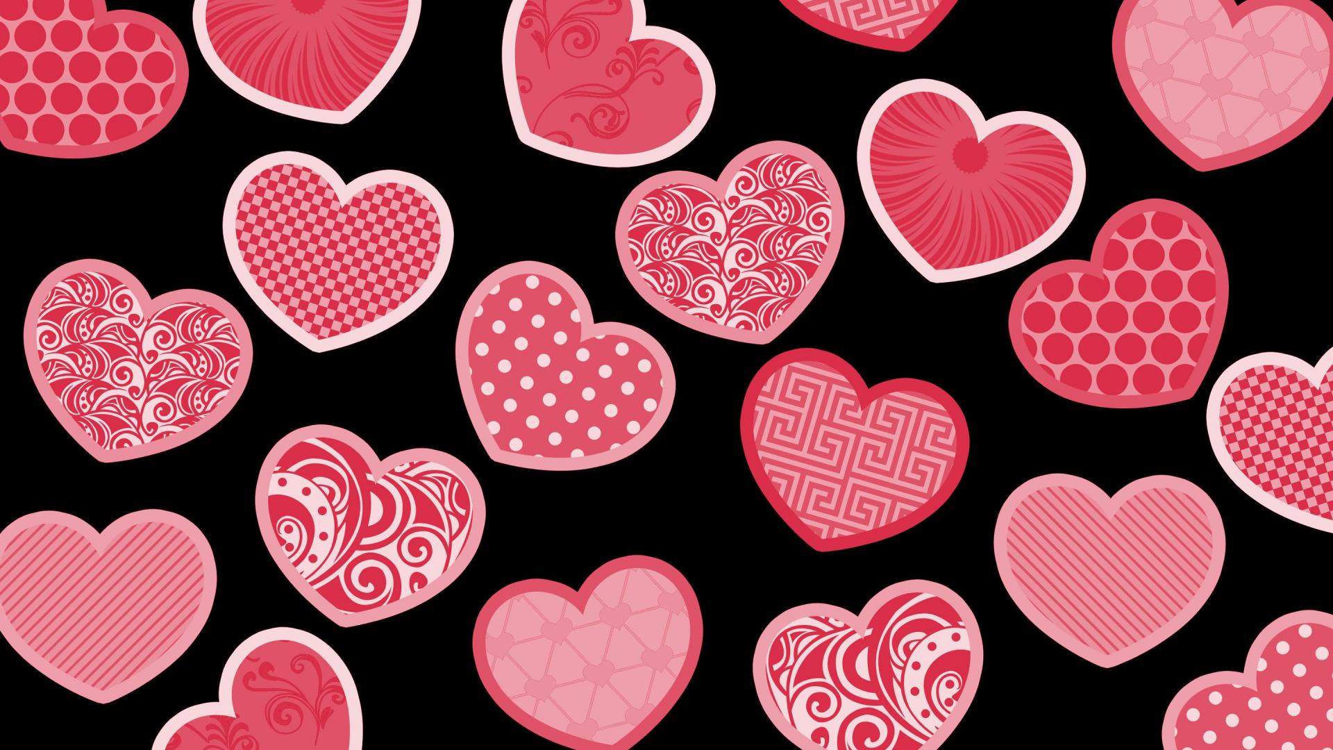 200 Pictures of pink and black hearts