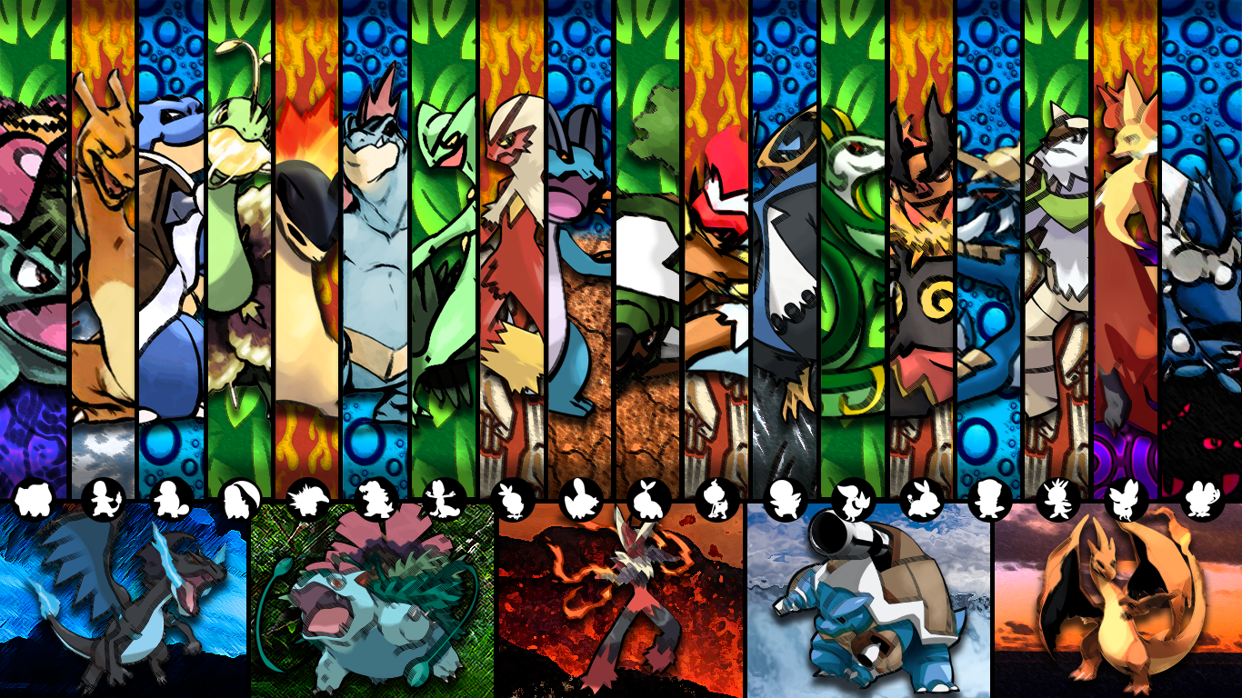 Download Pokemon Wallpaper Starters Gallery