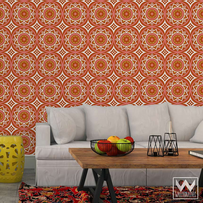 Red Removable Wallpaper