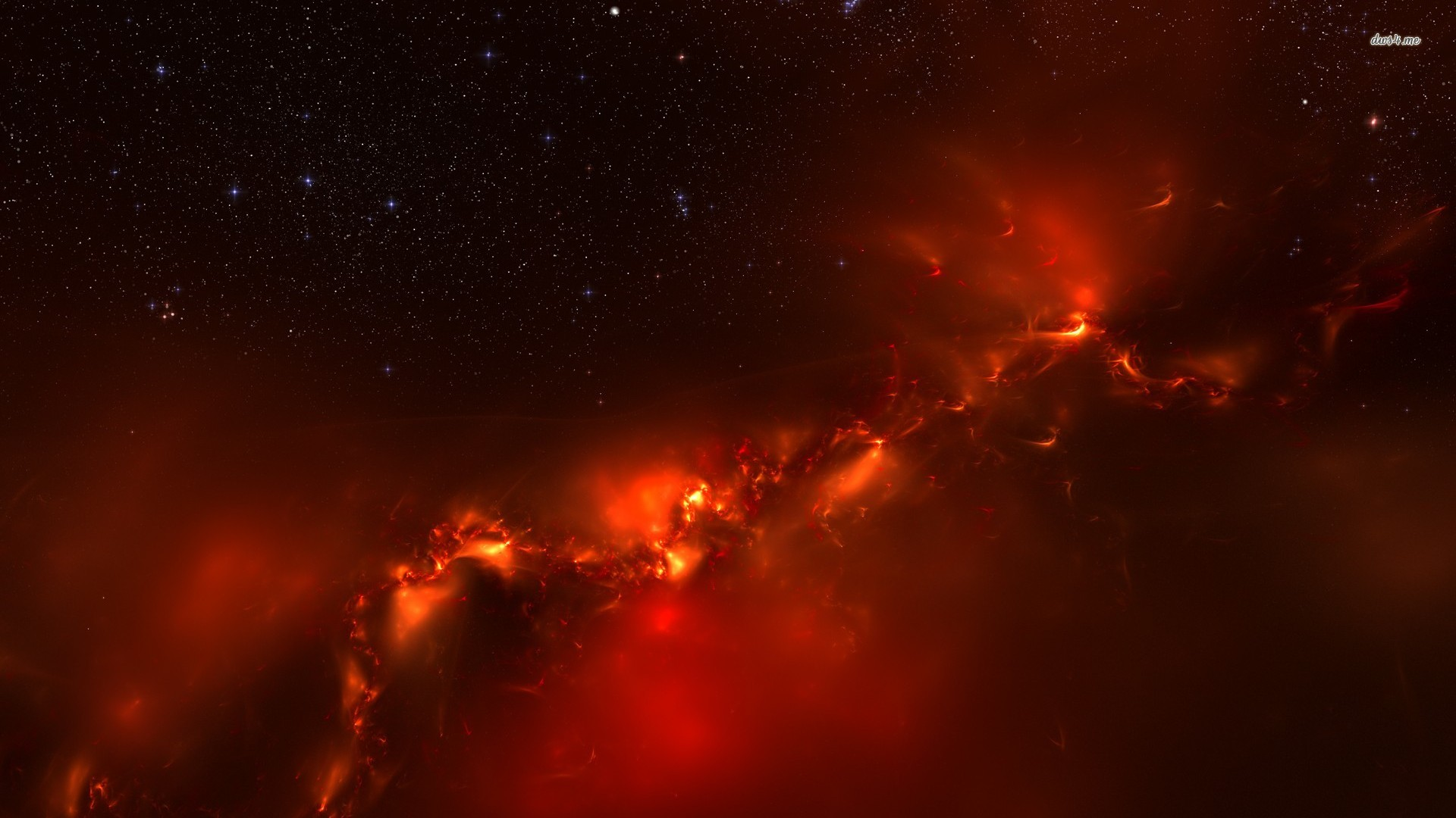 Red Space Wallpaper