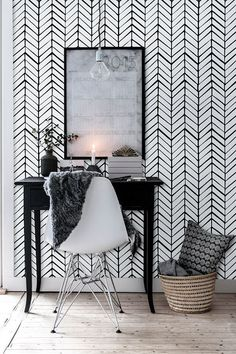 Removable Chevron Wallpaper