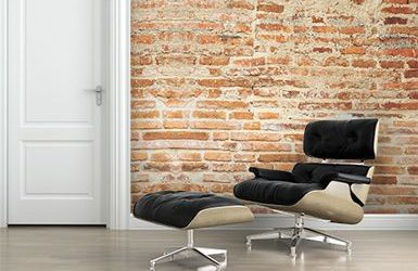 Removable Faux Brick Wallpaper