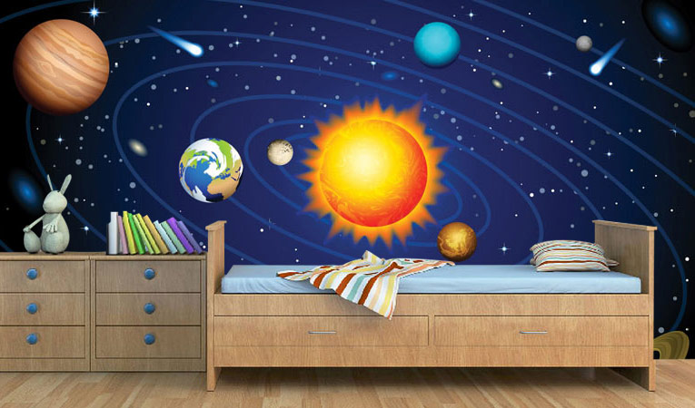 download space wallpaper for kids room gallery
