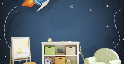 Space Wallpaper For Kids Room