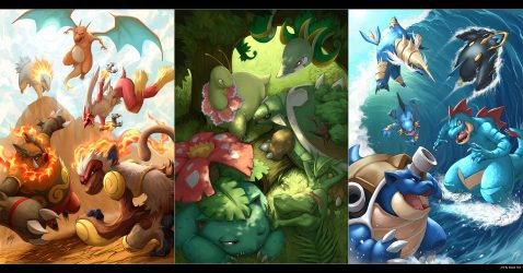 Starter Pokemon Wallpaper