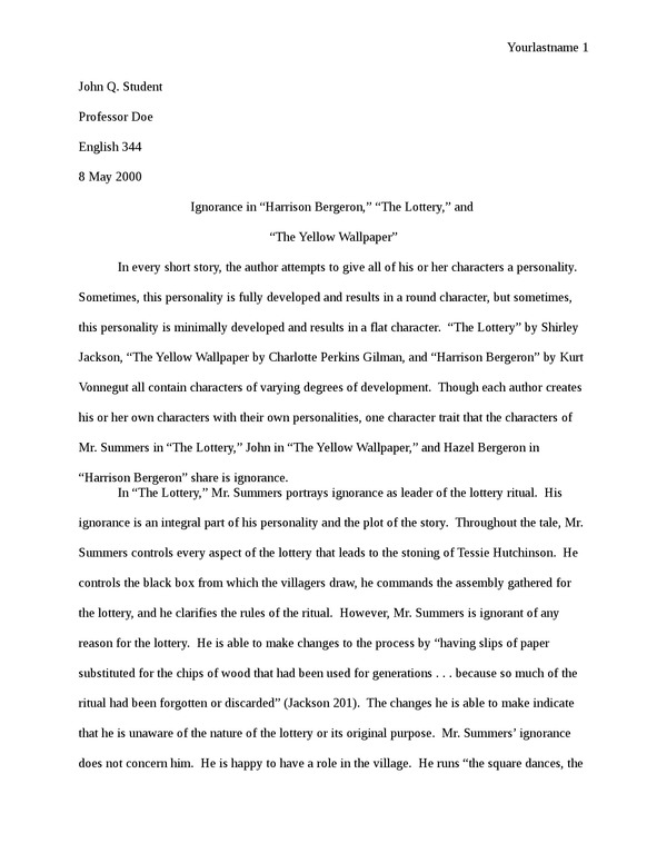 Science Essay Example The Yellow Wallpaper Research Paper Essays On Woman also Order Essays Online Download The Yellow Wallpaper Research Paper Gallery Problems Of Third World Countries Essay