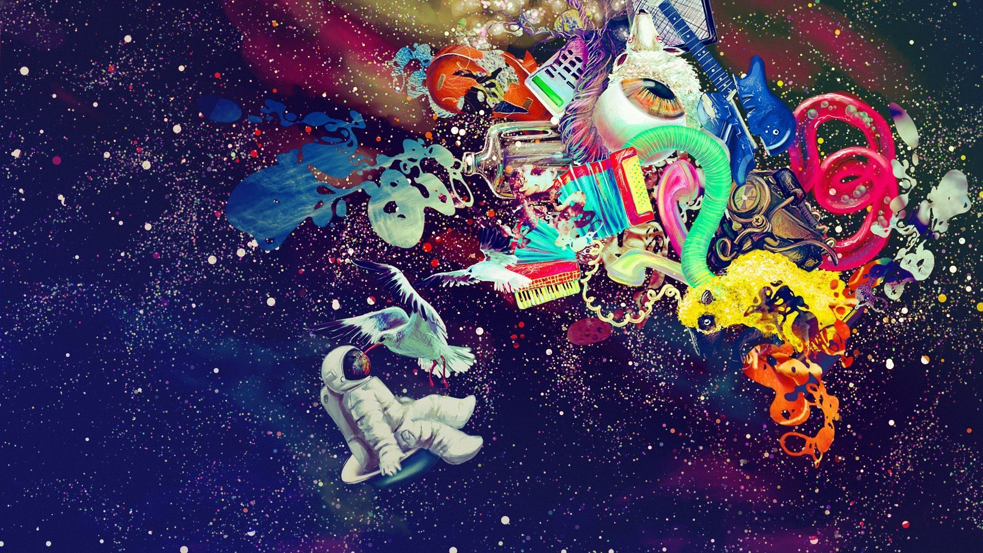 Trippy Space Wallpaper