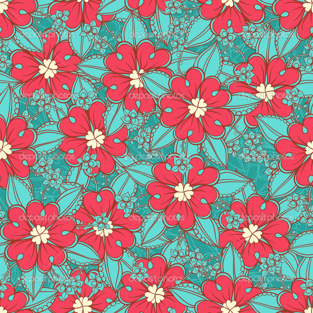 download turquoise wallpaper with pink flowers gallery