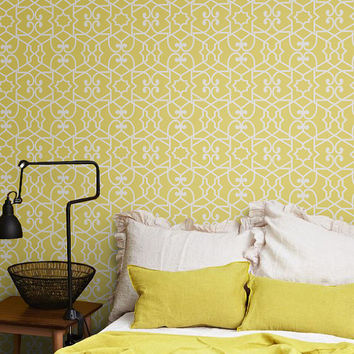 Yellow Removable Wallpaper