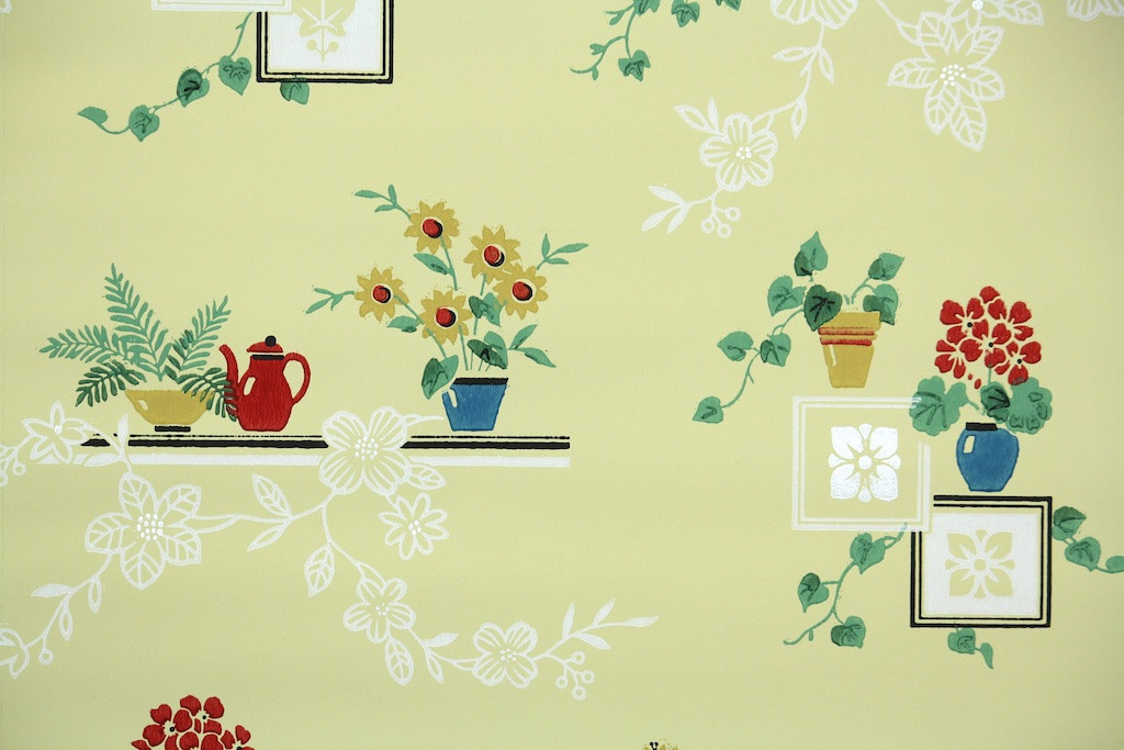 1950s Kitchen Wallpaper