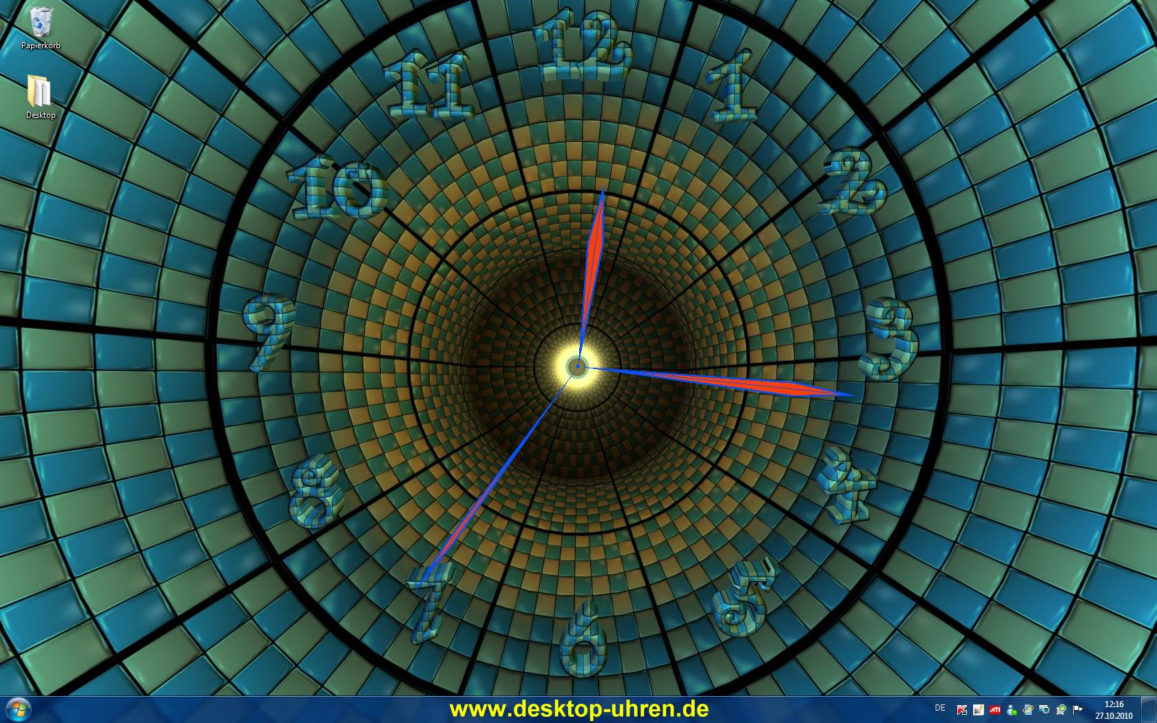 3D Clock Wallpaper Free Download