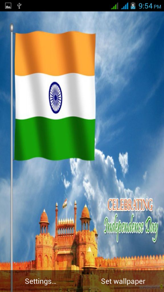 3D Indian Flag Live Wallpaper