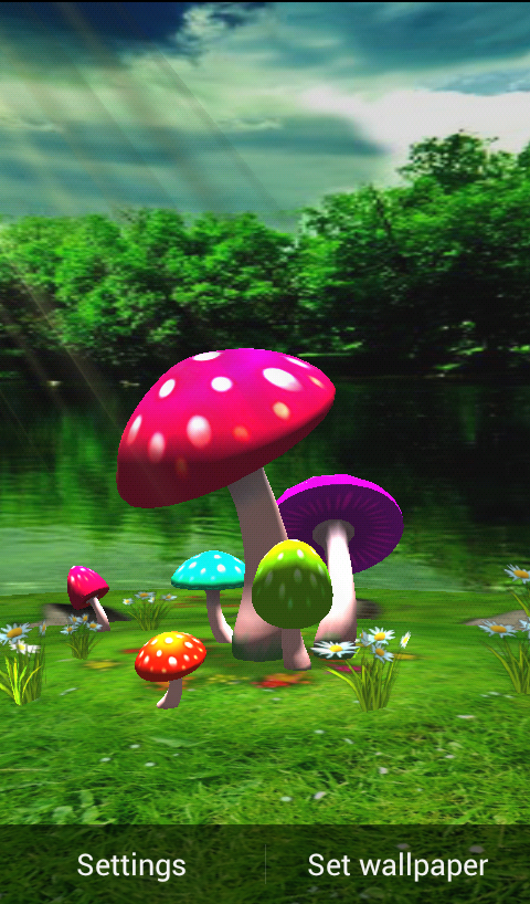 3D Mushroom Wallpaper Download