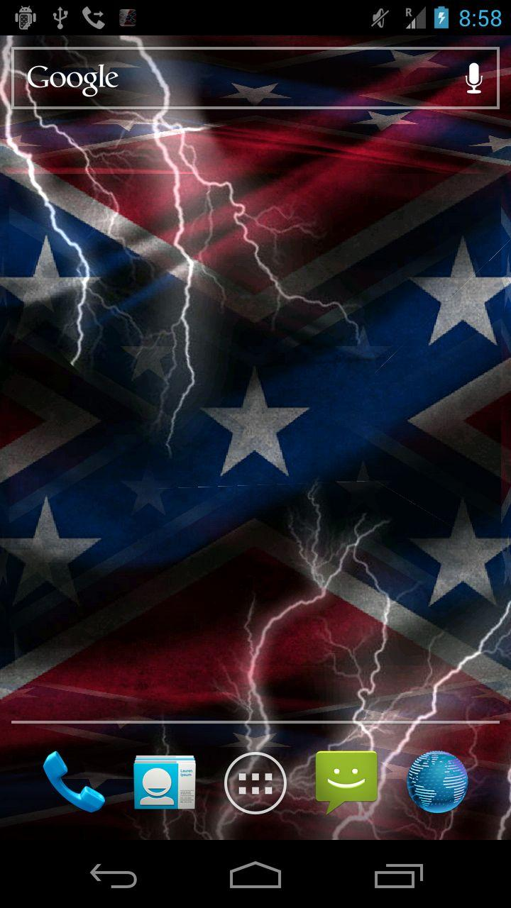 3D Rebel Flag Live Wallpaper Apk